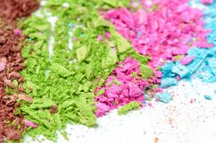 Colorful powder eyeshadow Royalty Free Stock Photo