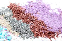 Colorful powder eyeshadow Stock Image