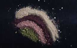 Colorful powder eyeshadow Royalty Free Stock Image