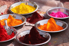 Colorful powder pigments Royalty Free Stock Image