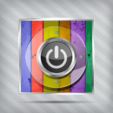 Colorful power icon Stock Photo