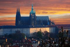Colorful Prague gothic Castle Royalty Free Stock Photos