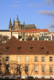 Colorful Prague gothic Castle on the River Vltava Stock Photo