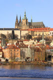 Colorful Prague gothic Castle on the River Vltava Royalty Free Stock Photo