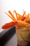 Colorful  prawn shrimps appetizer snack Royalty Free Stock Image