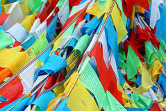 Colorful Prayer Flags Stock Photos