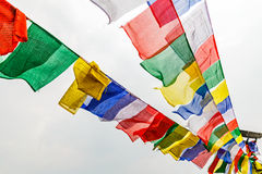 Colorful prayer flags Royalty Free Stock Photography