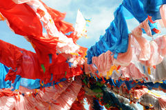Colorful Prayer Flags In Tibet Stock Photo