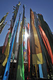 Colorful prayer flags(Jingfan) Stock Photos