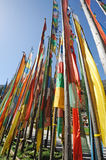 Colorful prayer flags(Jingfan) Royalty Free Stock Images