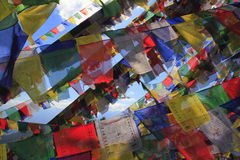 Colorful prayer flags Royalty Free Stock Photo