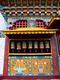 Colorful prayer wheels for good karma in Sikkim, India Royalty Free Stock Images