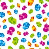 Colorful precious gems, jewels. stock illustration