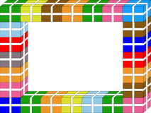 Colorful present border Stock Photos