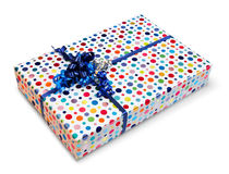 Colorful present box Royalty Free Stock Image