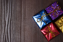 Colorful present boxes Royalty Free Stock Photography