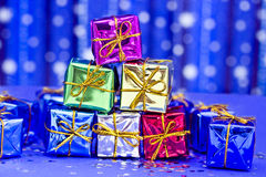 Colorful present decorations for Christmas Stock Image