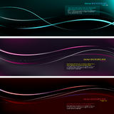 Colorful Presentation background. Dark presentation background with colored waves Stock Photo