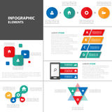 Colorful presentation template Infographic elements flat design set for brochure flyer leaflet marketing Royalty Free Stock Images
