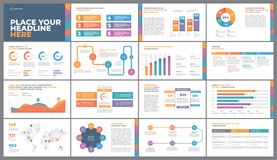 Colorful Presentation Template. Presentation Template design. Business data graphs. Vector financial and marketing charts Stock Photos