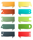 Colorful presentations with letters and numbers Stock Photography