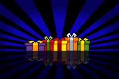 Colorful presents Royalty Free Stock Images