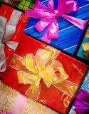 Colorful presents Royalty Free Stock Photography
