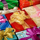 Colorful presents Royalty Free Stock Photos