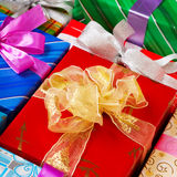 Colorful presents Stock Photography
