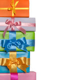 Colorful presents border Stock Photos