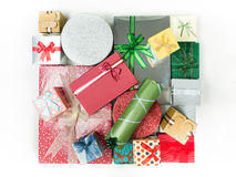 Colorful presents for different occasions stock image