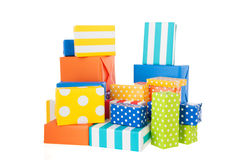 Colorful presents Stock Images