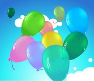 Colorful pretty ballooons Stock Images