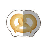Colorful pretzel bread icon. Illustraction design image Stock Photography