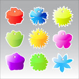 Colorful Price Labels. Shape Of Flowers Stock Photo