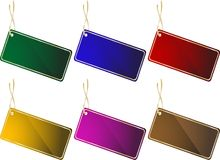 Colorful Price Tag Royalty Free Stock Photography