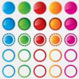Colorful price tags collection (sale) Royalty Free Stock Images