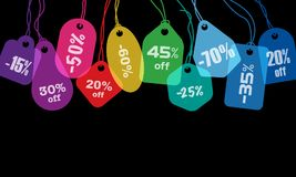 Colorful price tags Royalty Free Stock Image