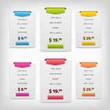 Colorful pricing plans conception Royalty Free Stock Images