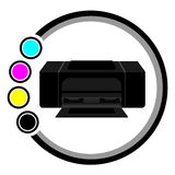 Colorful printer Royalty Free Stock Photos