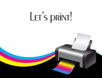 Colorful printer. An illustration of a colorful printer Royalty Free Stock Photography
