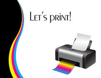Colorful printer. An illustration of a colorful printer Royalty Free Stock Photos