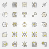 Colorful project management icons Stock Images