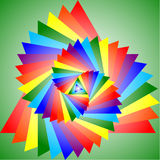 Colorful projection of a triangle Royalty Free Stock Photos