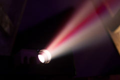 Colorful projector lights Stock Photos