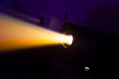 Colorful projector lights Stock Images