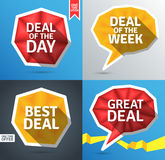 Colorful promo elements Royalty Free Stock Images