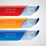 Colorful promotional banner design, vector illustration Royalty Free Stock Image