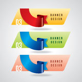 Colorful promotional banner design, vector illustration Stock Photo