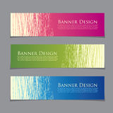 Colorful promotional banner design, vector illustration Royalty Free Stock Images
